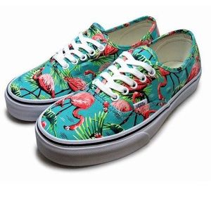 Vans Off the Wall lace up Pink flamingo sneakers